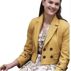 Anthropologie Cartonnier Luisa Cropped Peacoat